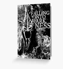 Falling into Darkness Greeting Card