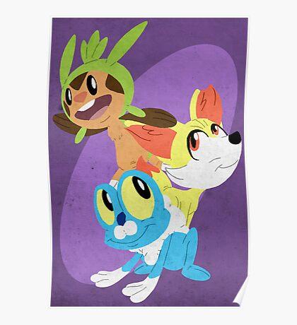 Gen VI Pokemon Starters Poster