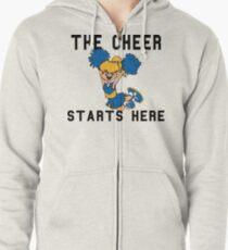 """Cheerleading """"The Cheer Starts Here"""" Zipped Hoodie"""