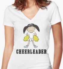 Cute Cheerleader Women's Fitted V-Neck T-Shirt