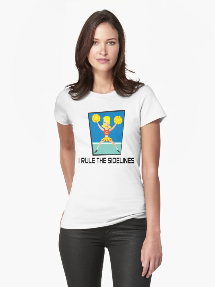 """Cheerleader """"I Rule The Sidelines"""" by SportsT-Shirts"""