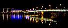 Linz Bridge @ Night by Walter Quirtmair