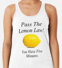 Zitronen-Gesetz Racerback Tank Top