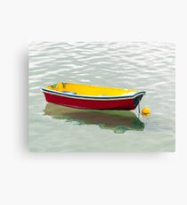 red dinghy Canvas Print