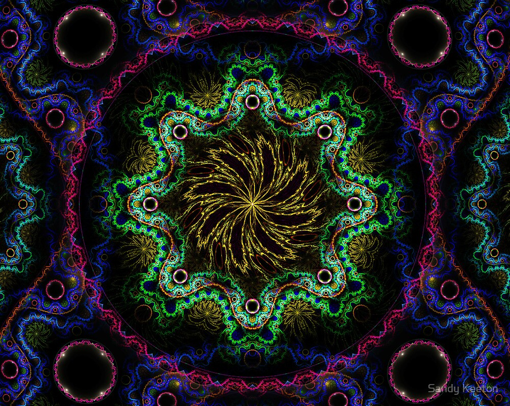 Center Swirl by Sandy Keeton