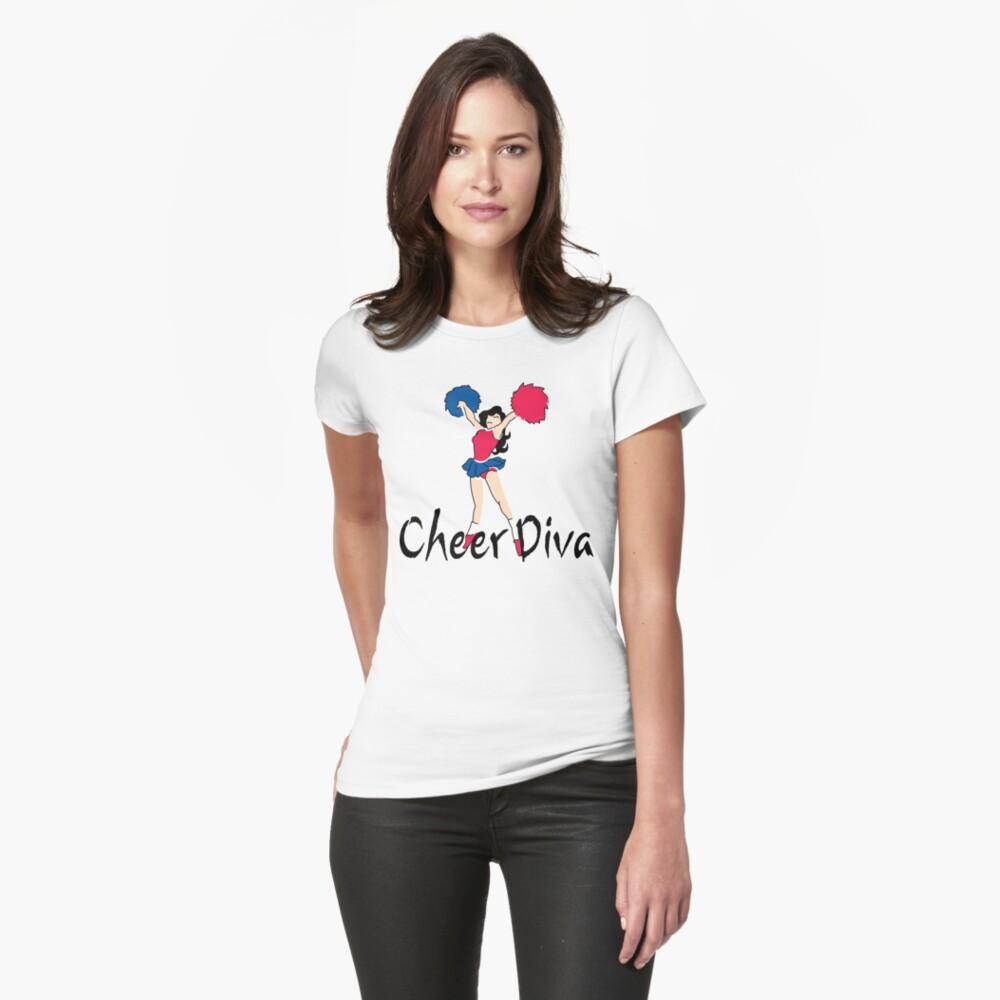"""Cheerleading """"Cheer Diva"""" Womens T-Shirt Front"""