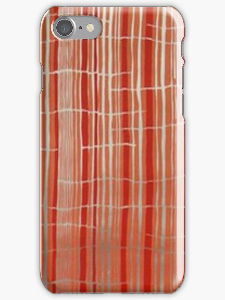 coral stripes -iphone case by ksully