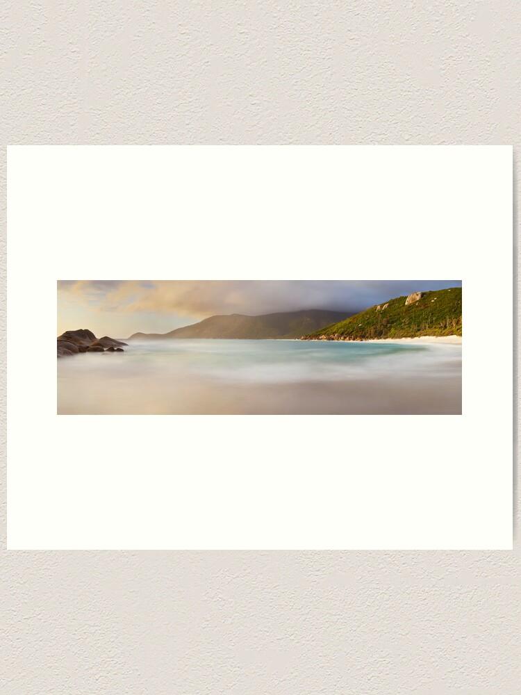 Alternate view of Dawn greets Little Waterloo Bay, Wilsons Promontory, Victoria, Australia Art Print