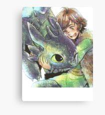 How to train your dragon 'Hug' Canvas Print