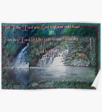 Wilmot Falls, Tasmania... painting with scripture Poster