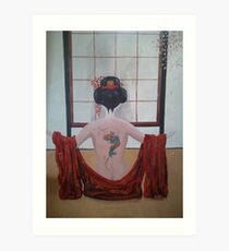Sayuri#2- The Client Art Print