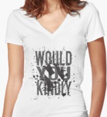 """""""Would You Kindly"""" - Bioshock Women's Fitted V-Neck T-Shirt"""