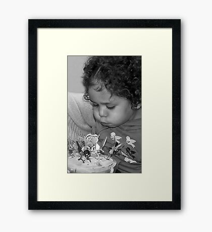 Jada, Blowing out the Candles! Framed Print