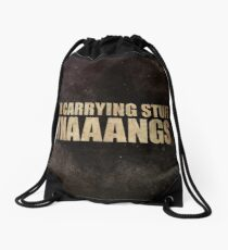 Carrying Stuff. Thaaangs Drawstring Bag