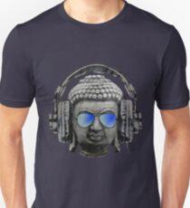 Cool Headphones Hip Hop Groove Buddha Banksy  T-Shirt