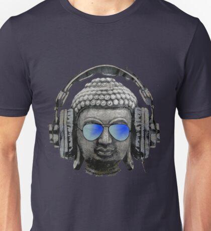 Cool Headphones Hip Hop Groove Buddha Banksy  Unisex T-Shirt