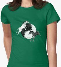 Yin Yan Horses Womens Fitted T-Shirt