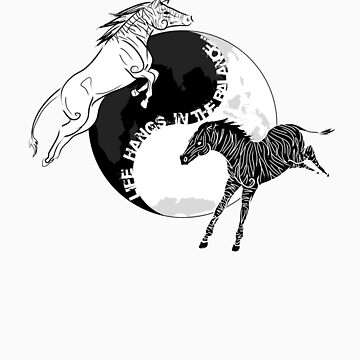 Yin Yan Horses by Malcassairo