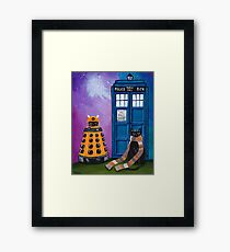 The Doctor and the Dalek Framed Print