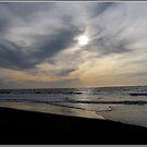 Seascape at sunset by hanslittel