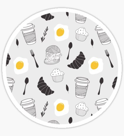 Food pattern Sticker