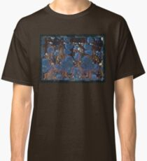 marbled paper - blue mushroom 2 layer Classic T-Shirt