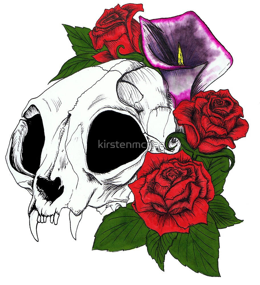 Kitty Skull by kirstenmcnee