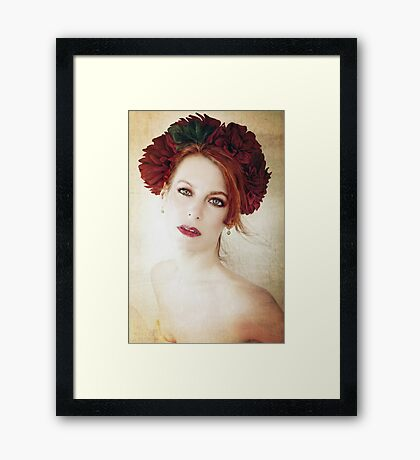 A Diadem of Red Framed Print