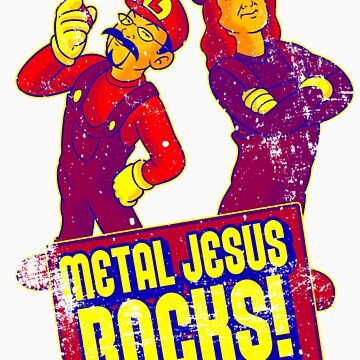 Mario Metal Jesus (Distressed) by metaljesusrocks