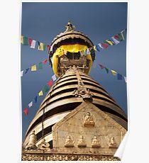 Swayambhunath stupa Poster