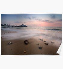 Eastbourne pier sunrise Poster