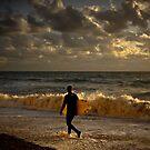 Surfer sunset by willgudgeon
