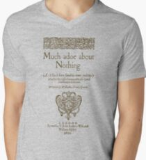 Shakespeare. Much adoe about nothing, 1600 Men's V-Neck T-Shirt