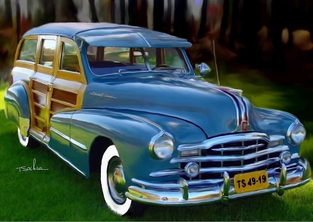 1947 Pontiac Woody Wagon  by Tom Sachse