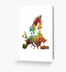 Map of the Europe Greeting Card
