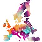 Europe Map colored by JBJart