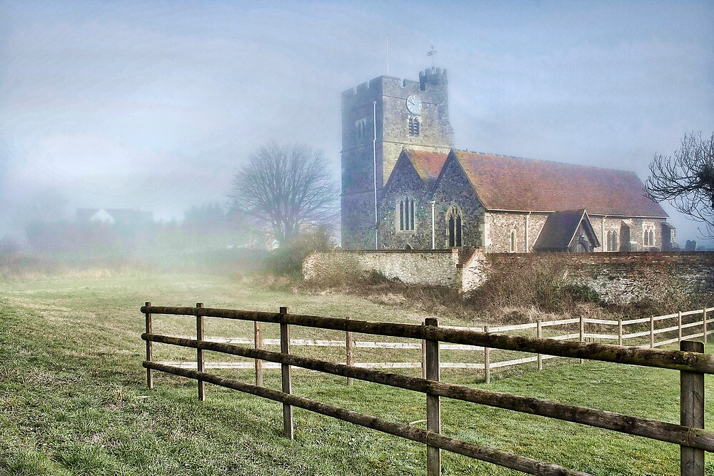 Wouldham Church In The Fog by Dave Godden
