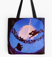 The diver, watercolor Tote Bag