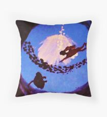 The diver, watercolor Throw Pillow