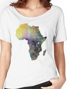 Africa map 4 Women's Relaxed Fit T-Shirt