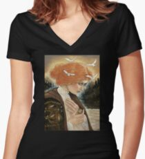 The Witching Doll Women's Fitted V-Neck T-Shirt