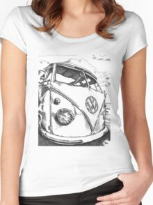 SPLiT  Bus Women's Fitted Scoop T-Shirt