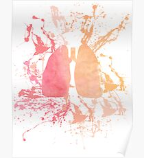 Paint Splattered Lungs Poster