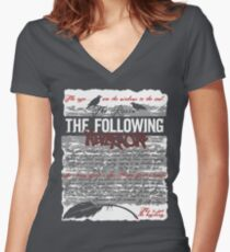 The Following:Nevermore Women's Fitted V-Neck T-Shirt