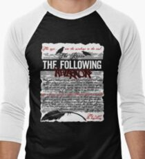 The Following:Nevermore Men's Baseball ¾ T-Shirt