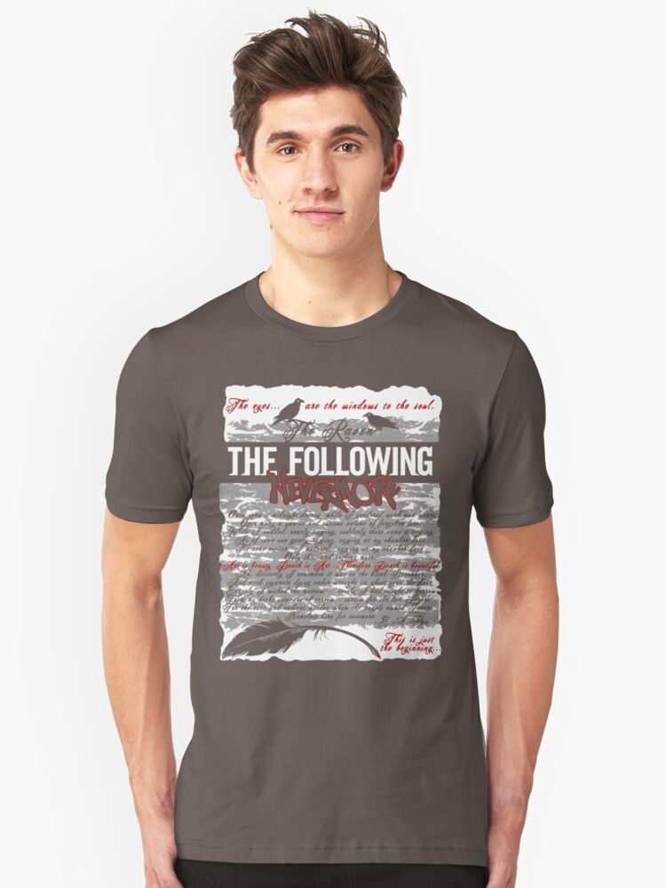 The Following:Nevermore Unisex T-Shirt Front