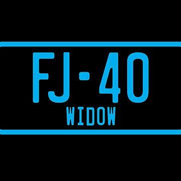 FJ40 Widow Logo Blue by FJ40Widow