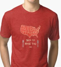 Nice to Meat You USA Map Tri-blend T-Shirt