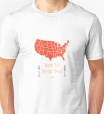 Nice to Meat You USA Map Unisex T-Shirt
