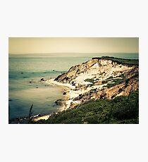 Gay Head Cliffs, Aquinnah, Martha's Vineyard, Massachusetts Photographic Print